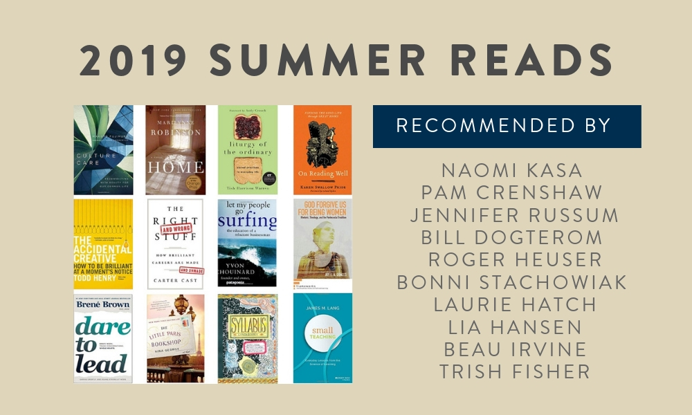 2019 SUMMER READ RECOMMENDATIONS graphic